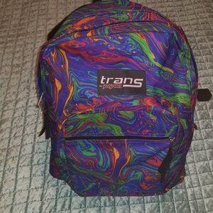 Trans by jansport supermax acid rainbow backpack